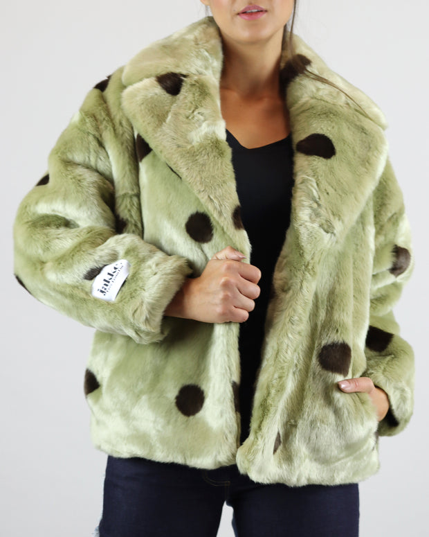 Sage Green Polka Dot Rita Jacket