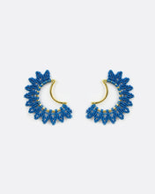 Load image into Gallery viewer, Joy Gold & Blue Moon Earrings