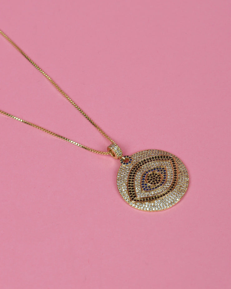 Evil Eye Medallion Necklace