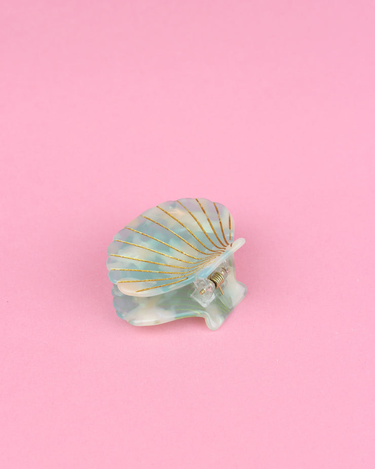 Sky Blue Shell Hairclip