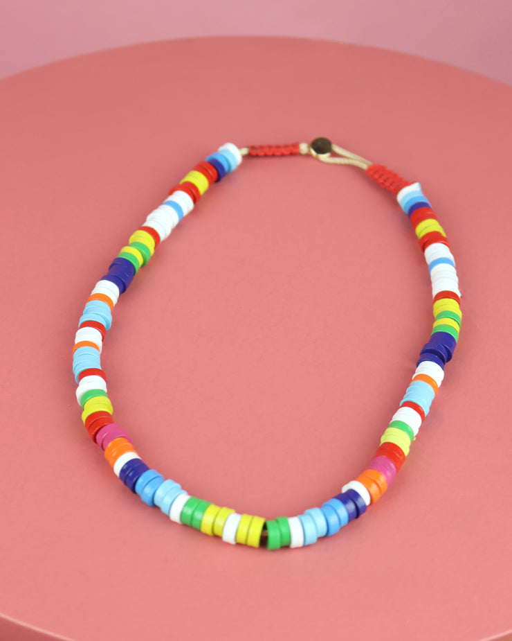 Multicolour Metal Candy Necklace