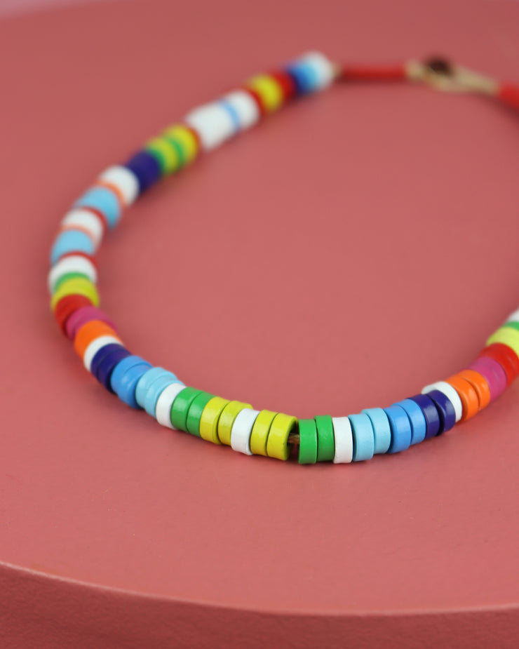 227 | BLAIZ | Multicolour Metal Candy Necklace