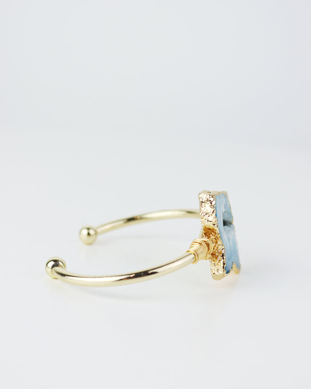 BLAIZ | 227 accessories | Blue Stone Bracelet, agate stone jewellery