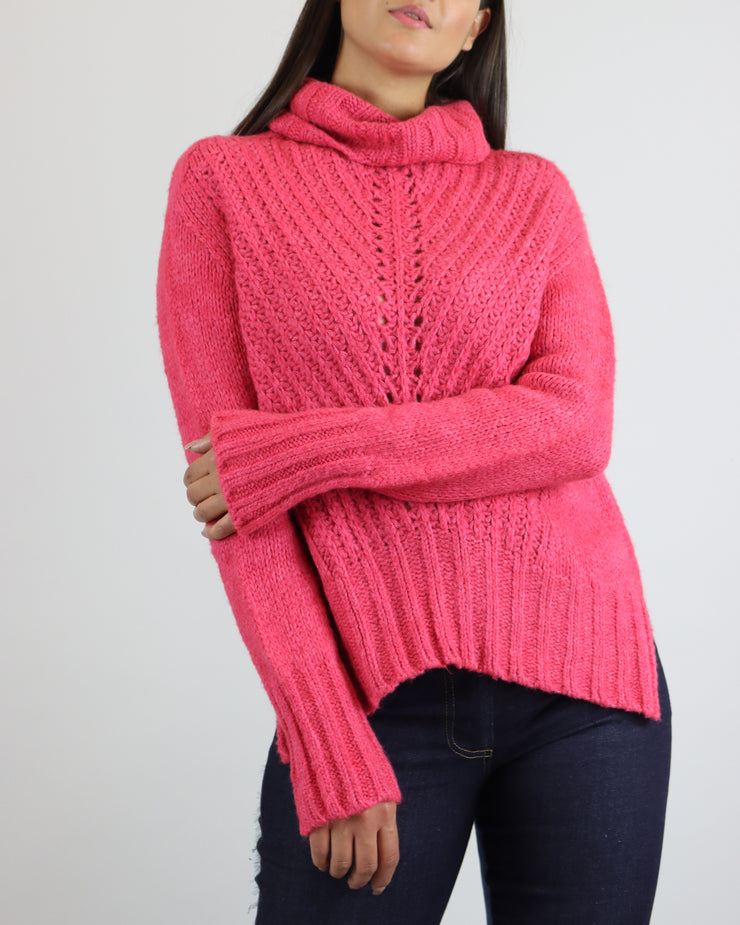 CECILIA PRADO | BLAIZ | Raspberry Roll Neck Sweater