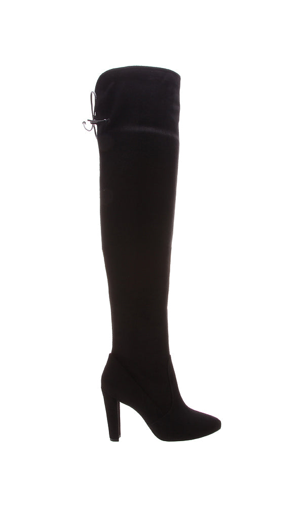 AREZZO | BLAIZ | Black Over-the-Knee High Heeled Boots Heels Suede