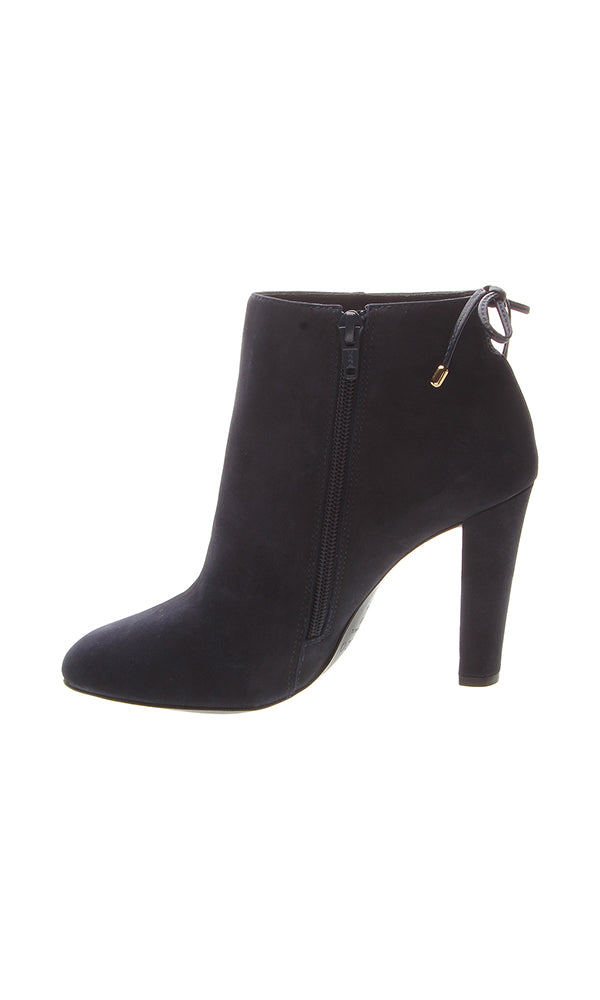 Black Suede High Heeled Ankle Boots