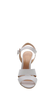SCHUTZ | BLAIZ | White High Heel Leather Sandals