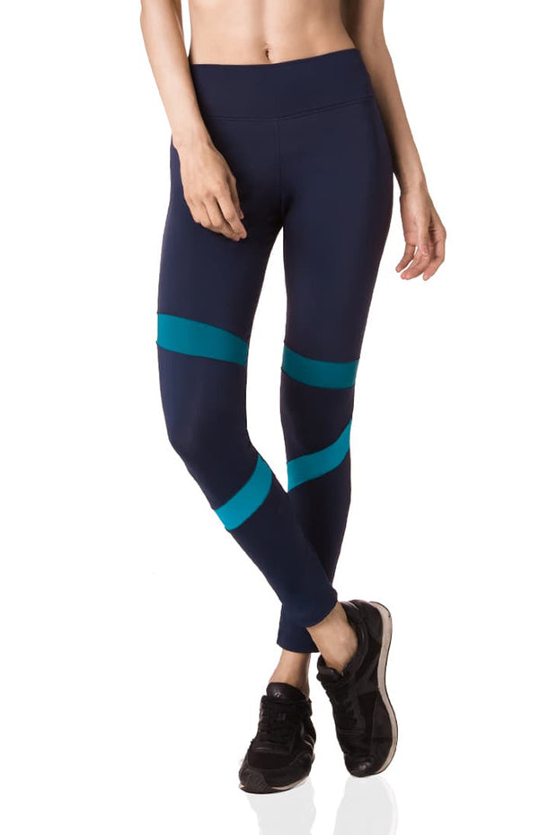 Navy & Petrol Asymmetric Leggings