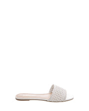 White Braided Flats