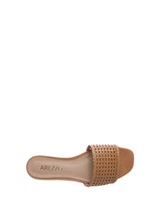 Tan Braided Flats