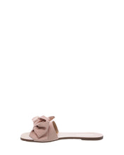 Load image into Gallery viewer, Blush Pink Bow Suede Flats