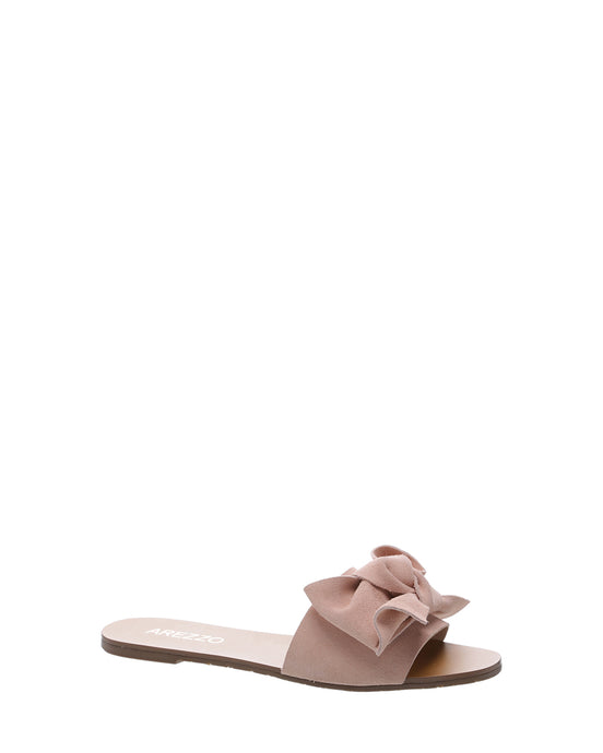 33e3986448b Blush Pink Bow Suede Flats