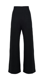 Blackwing Textured Wide Leg Trousers