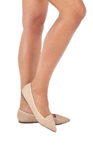 Load image into Gallery viewer, Nude Suede Pointed Flats
