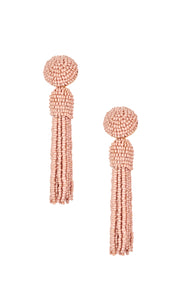 Nude Tassel Earrings