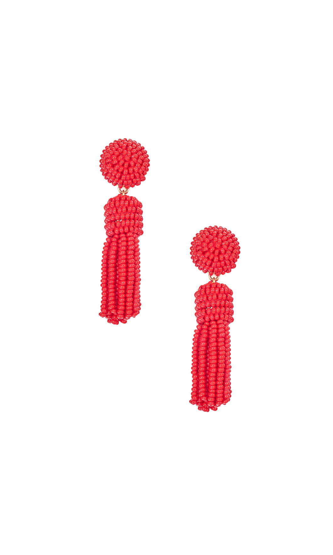Red Small Tassel Earrings