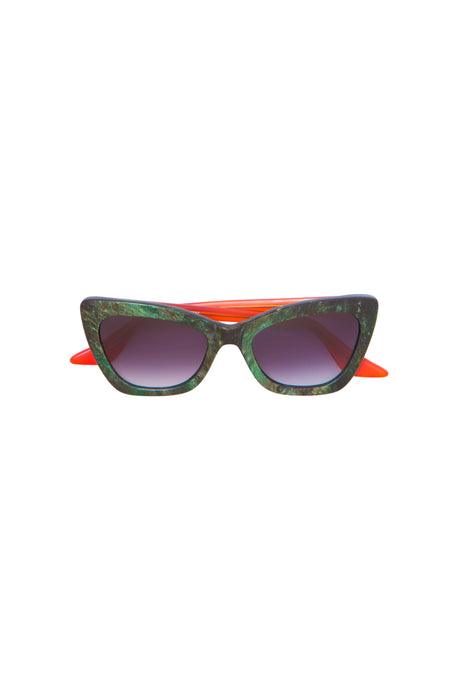 Green Marble Effect Brooklyn Sunglasses
