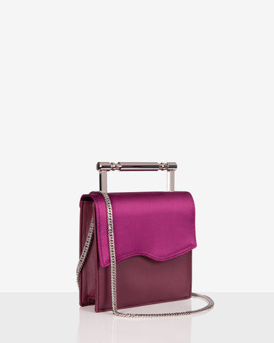 Iris Satin Burgundy Tote Bag