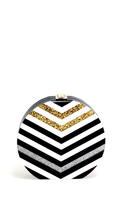 Black & White Striped Bag