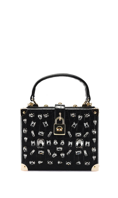 Black Embellished Shoulder Bag