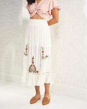 Load image into Gallery viewer, White Embroidered Maxi Skirt