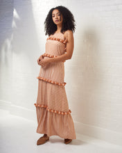 Load image into Gallery viewer, Peach Striped Maxi Dress
