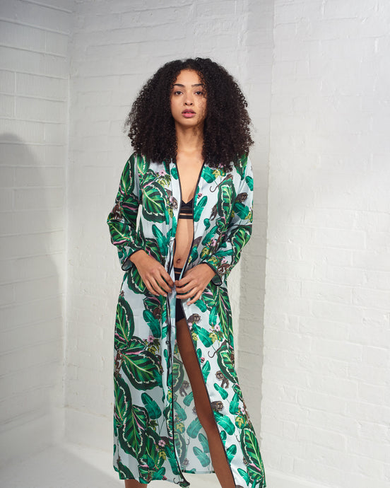 Amazona Leaf Printed Robe