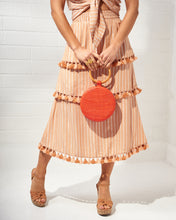 Load image into Gallery viewer, Peach Striped Midi Skirt