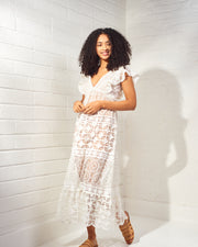 Nicole Ivory Lace Dress