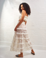 Load image into Gallery viewer, Ivory Marilyn Ruffle Lace Skirt