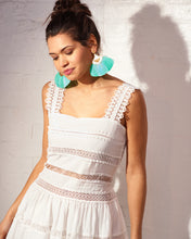 Load image into Gallery viewer, White Margot Crochet Dress