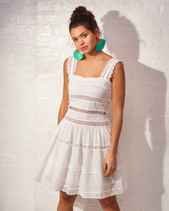 White Margot Crochet Dress