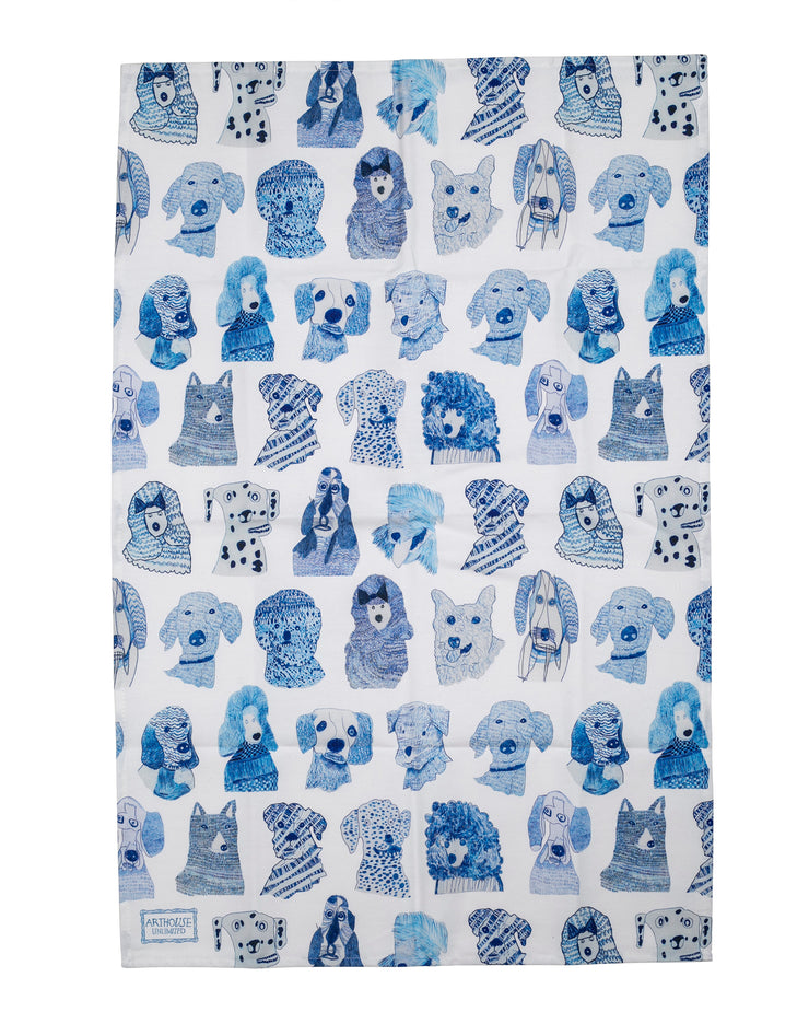 BLAIZ | Arthouse Unlimited | Blue Dogs Cotton Tea Towel