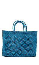 Load image into Gallery viewer, Blue & Black Tote Bag