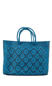 Blue & Black Tote Bag