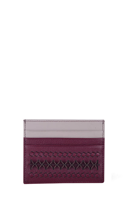 Burgundy & Cream Cardholder