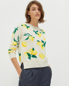 Lemon Cashmere Knit Jumper