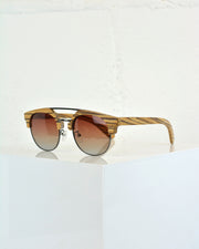 227 | BLAIZ | Wood Top Bar Sunglasses