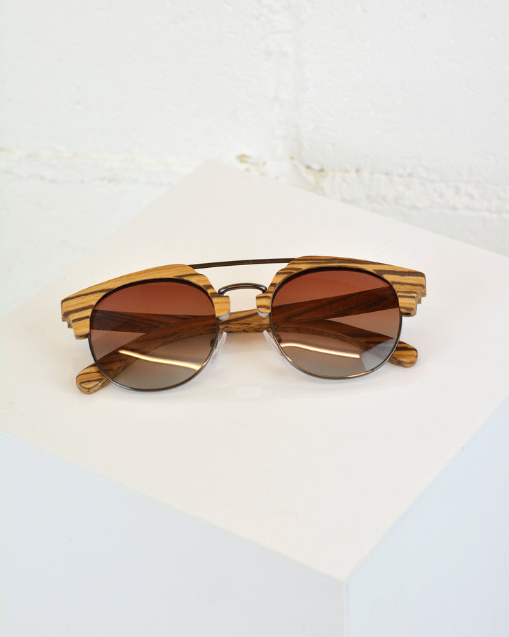 Wood Top Bar Sunglasses