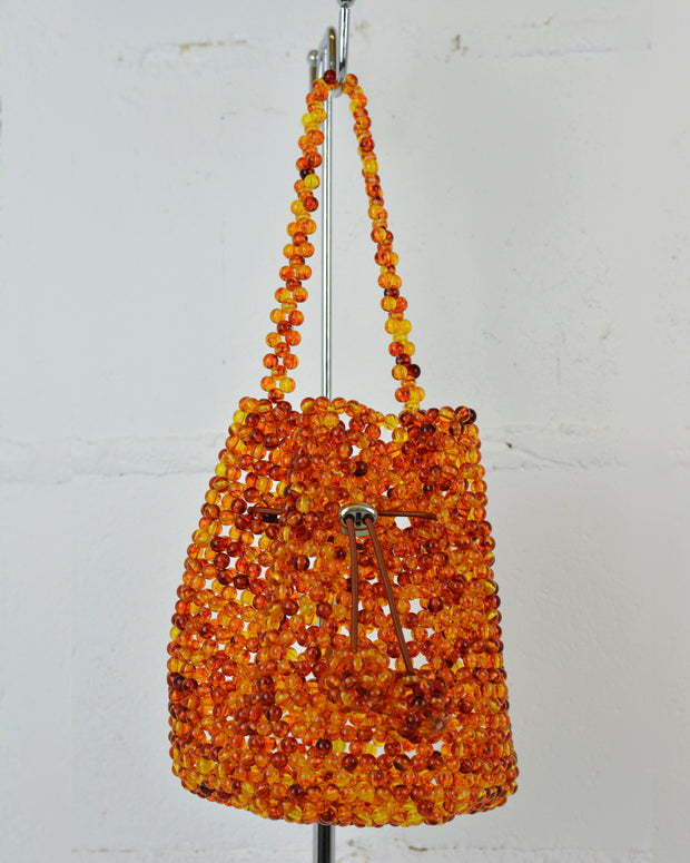 227 | BLAIZ | AMBER BEADED BAG TOTE WITH DRAWSTRING