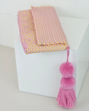 Pink & Yellow Pom Pom Clutch