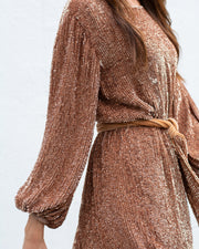 Bronze Grace Sequin Dress