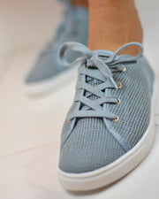 Dusty Blue Mesh Sneakers