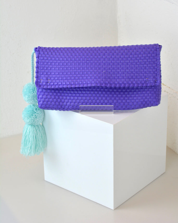 OAXACA | BLAIZ | Purple Pom Pom Clutch