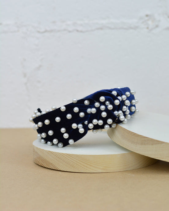 Royal Blue Pearl Headband