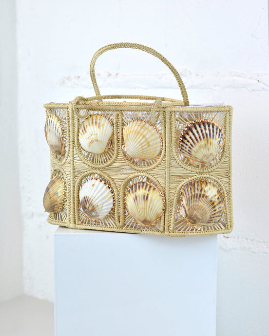 Woven Shell Mini Tote Bag