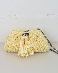 Cream Crochet Cross-Body Bag