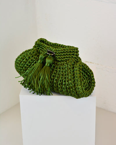 Green Crochet Cross-Body Bag