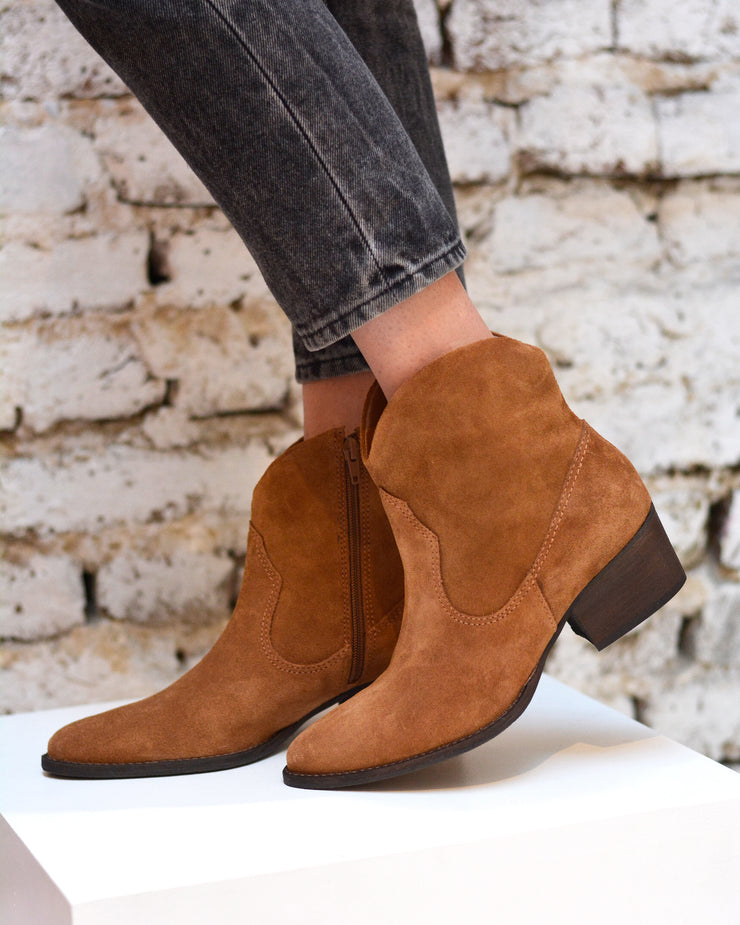 Brown Suede Cowboy Boots