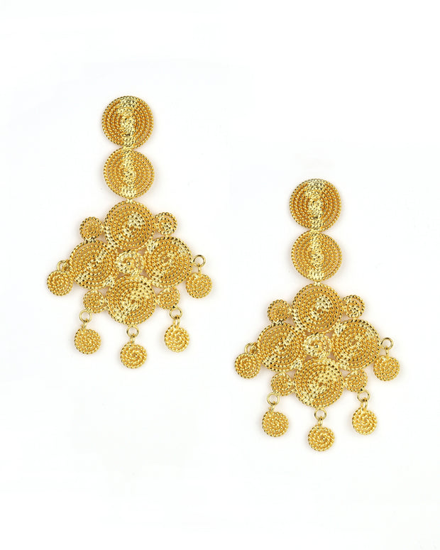 Gold Arabian Garden Earrings